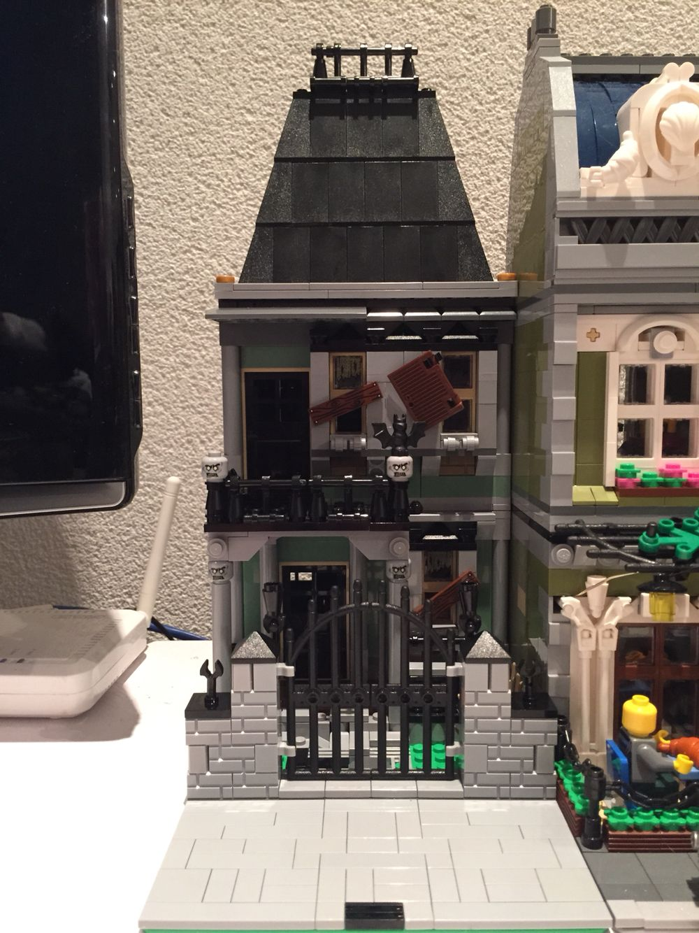 Lego Moc Haunted House Lego House Lego Halloween Legos