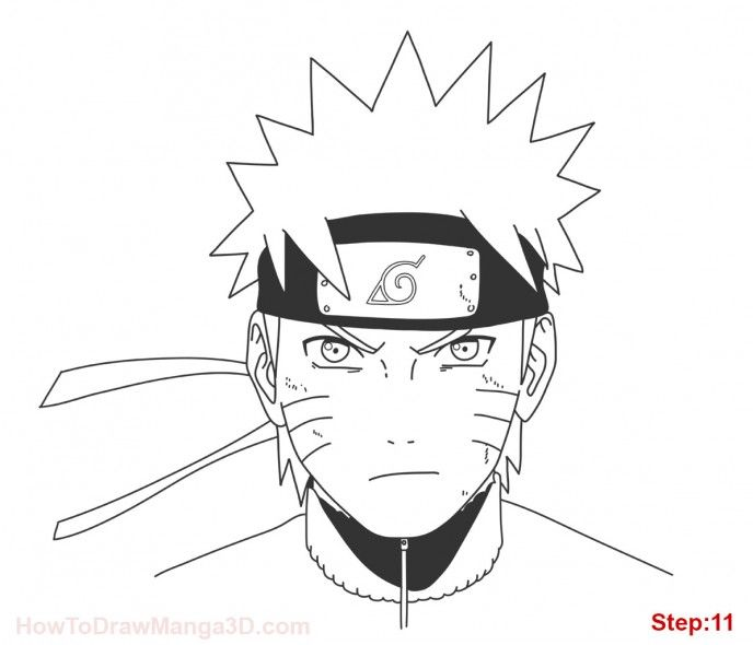 How To Draw Naruto Uzumaki Video Tutorial Tutorial Menggambar Anime Seni Anime Cara Menggambar