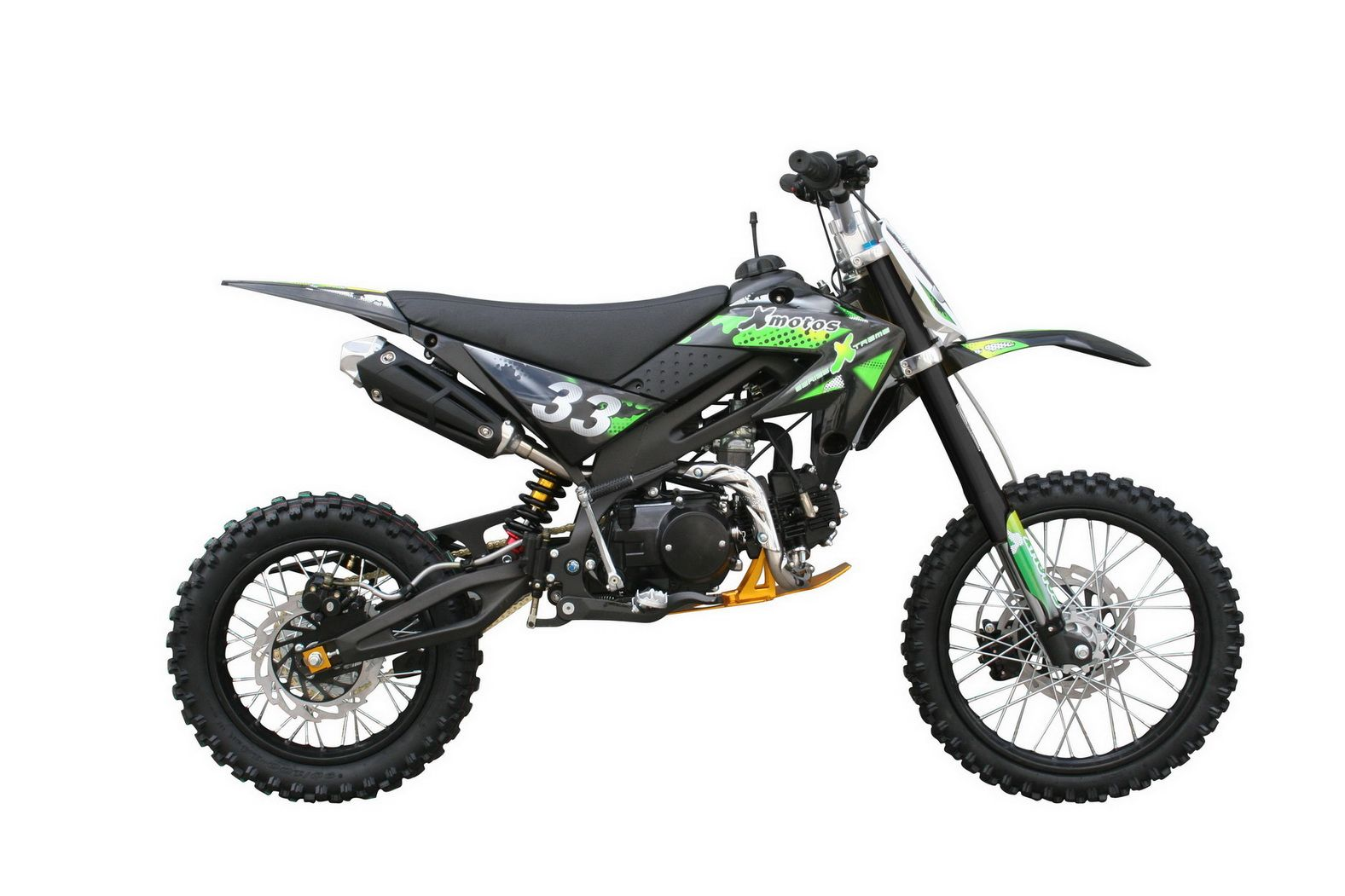 dirt bike xtr125 xb 33 125cc green black cars and autos. Black Bedroom Furniture Sets. Home Design Ideas
