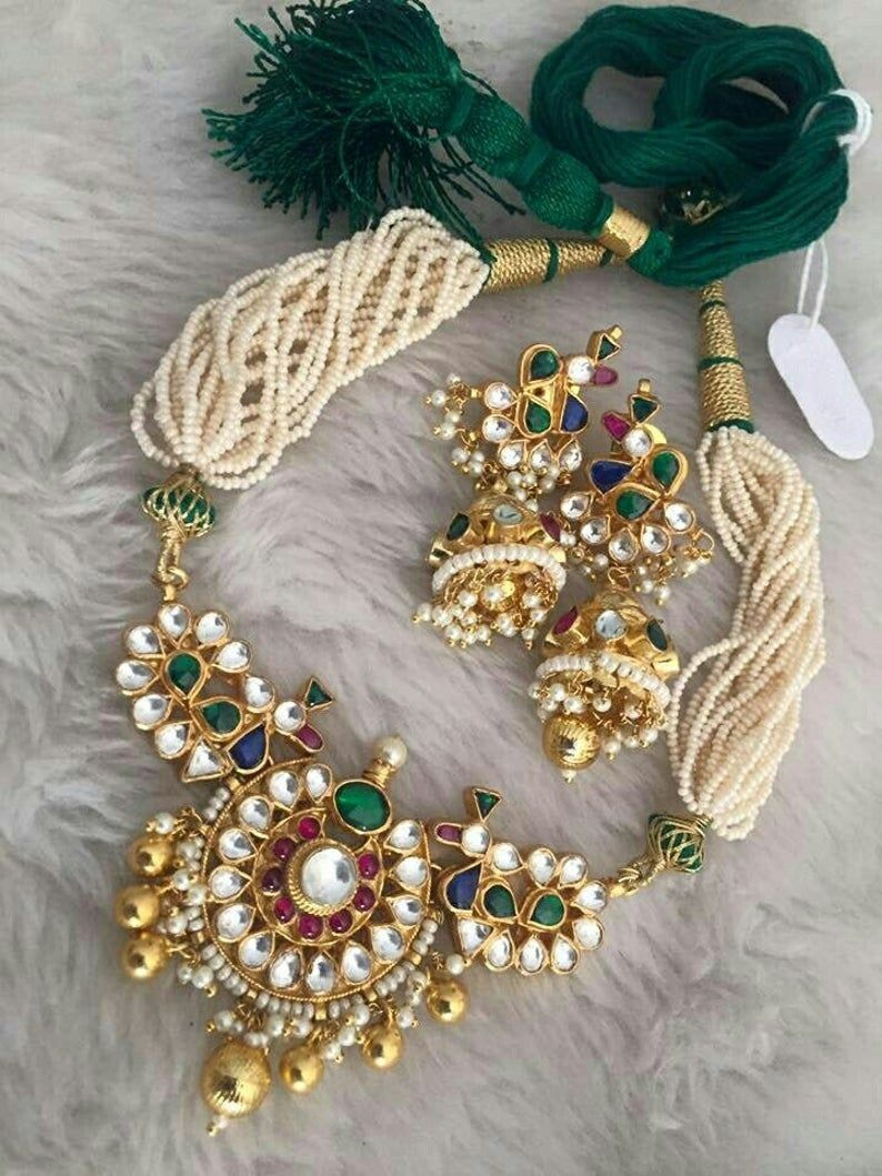 Kundan Bridal Jewelry Necklace Bollywood Latest Hi