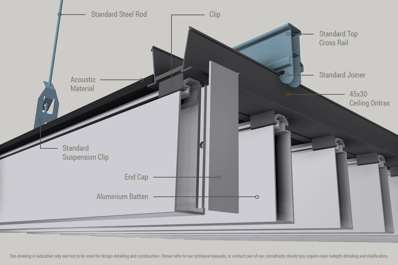 Concept Click Aluminium Battens - Woodform
