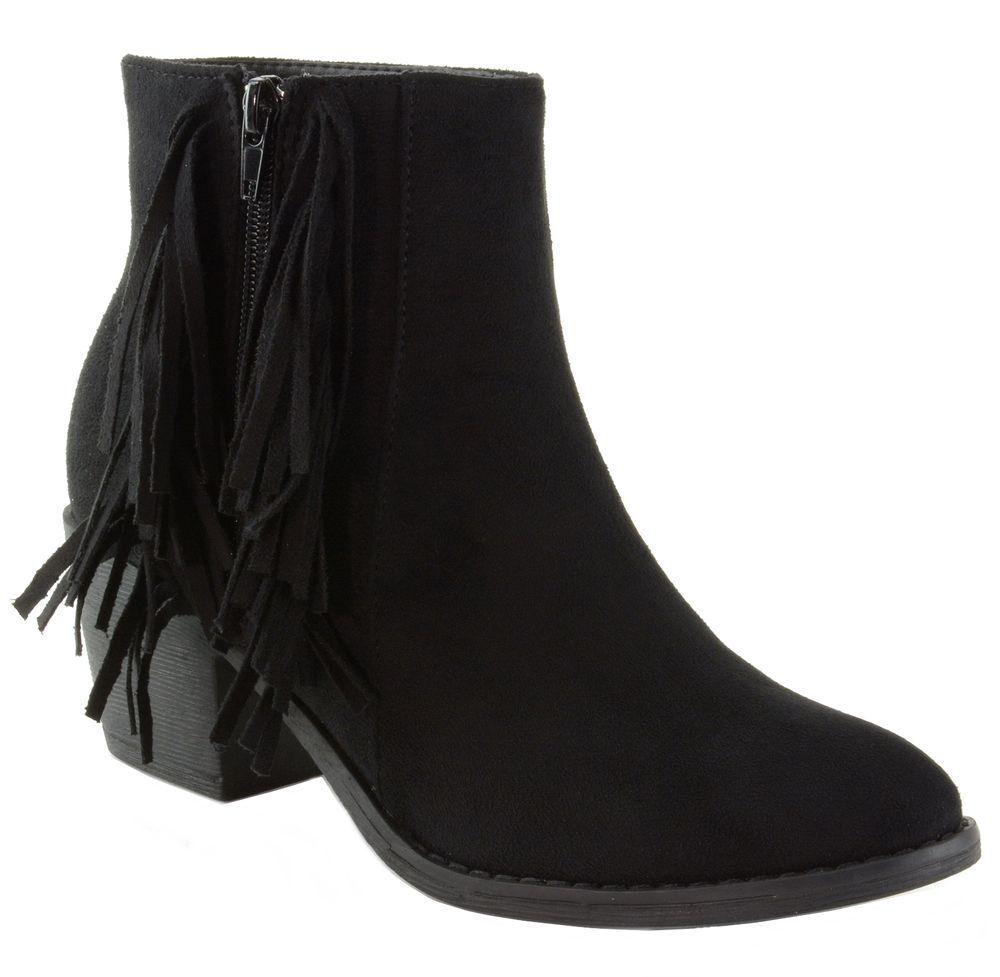 91e0a5ac256 ebay @pinterest Alpine Swiss Arosa Women's Ankle Boots Fringe Shoes ...