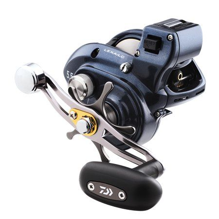 50387ce6abd Daiwa Lexa Line Counter Casting Reel 400, 5.5:1 Gear Ratio, 27.10 inch  Retrieve Rate, 25 lb Max Drag, Right Hand, Blue