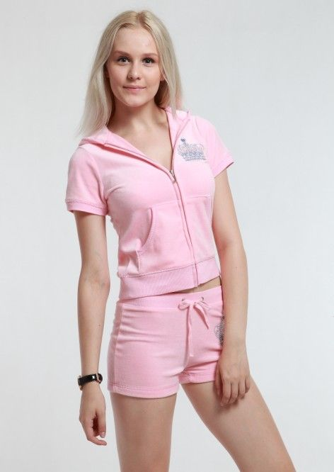 Http Www Bagsandtracksuits Com Juicy Couture Crown Summer Short Velour Hoodie Tracksuit Pink P 917 Html Juicy Co Juicy Couture Velour Hoodie Pink Outfits