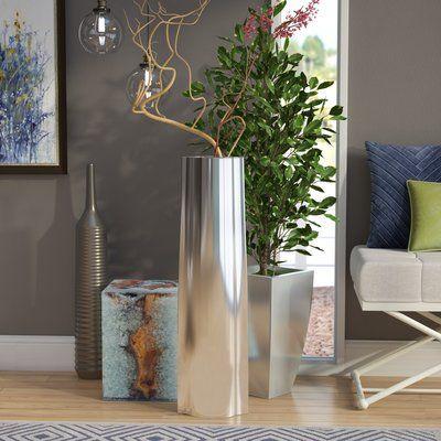 Gracie Oaks Gerry Modern Floor Vase Modern Decoration Floor