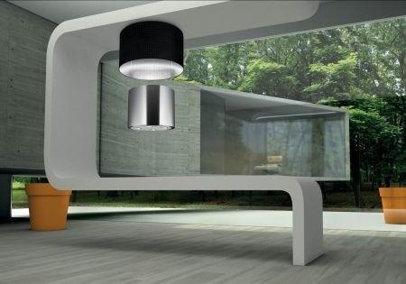 Cappe da cucina Faber a scomparsa con lampadario integrato | Idee ...