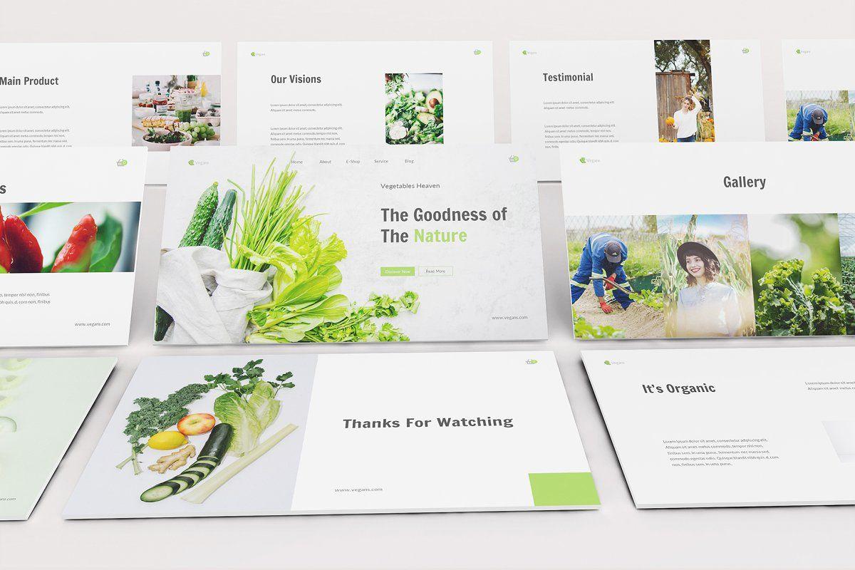 Vegetables Keynote Template Presentation Templates Powerpoint Templates Presentation