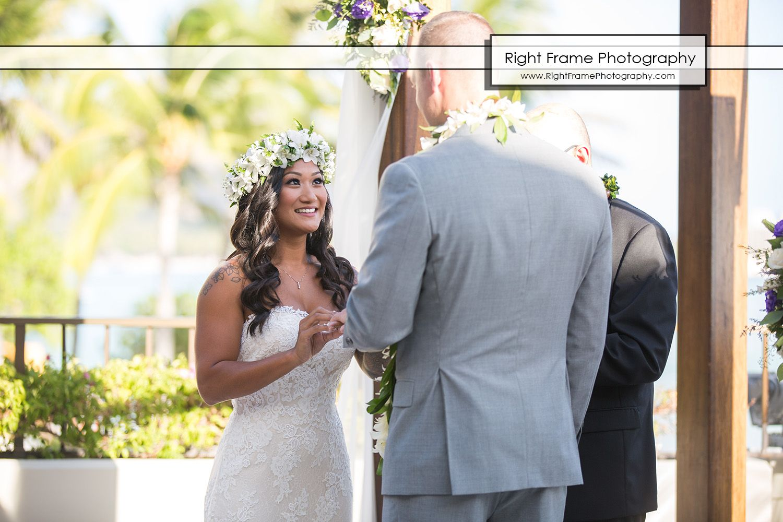 Wedding at the halekulani hotel hau photo by