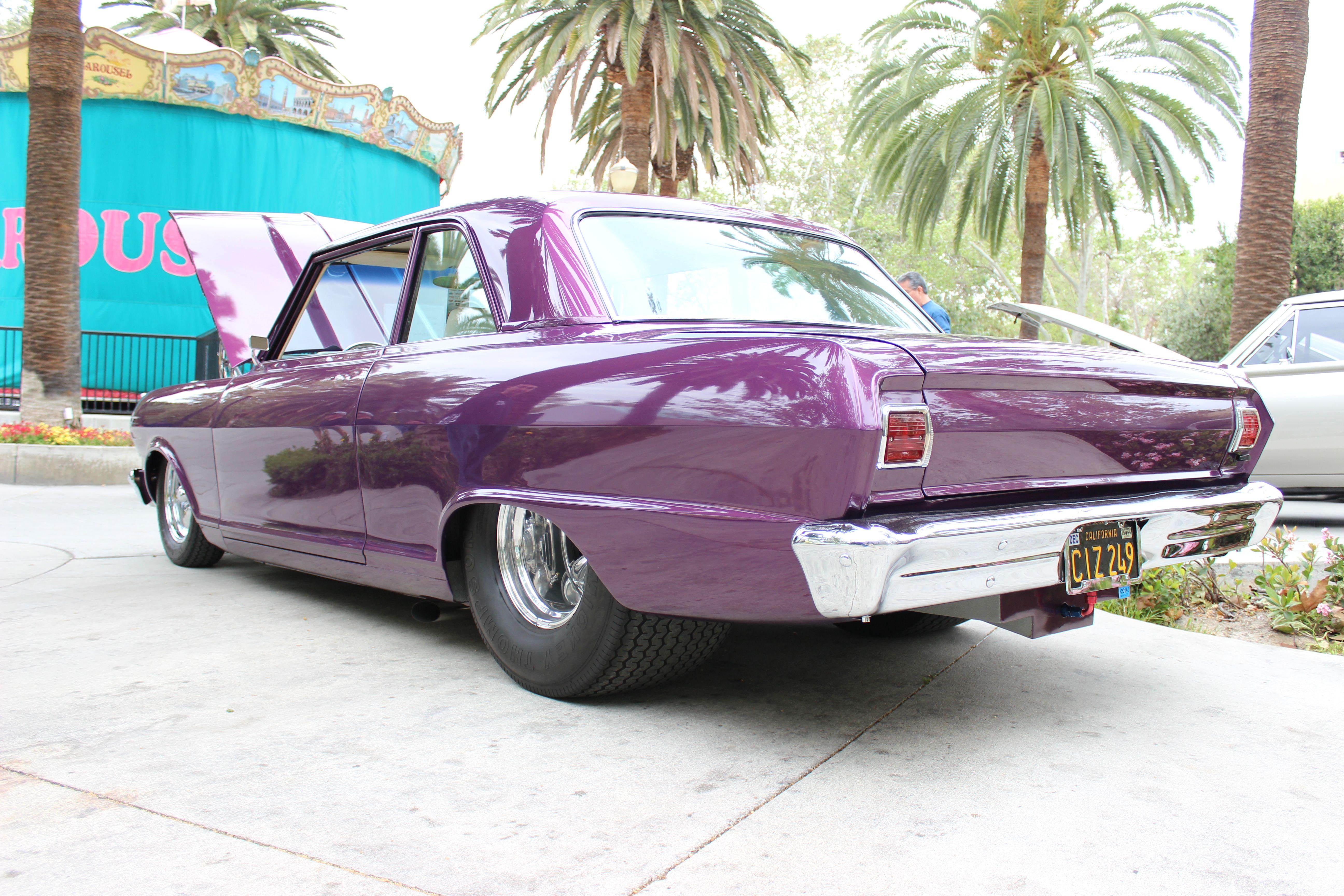 Chevy Chevrolet Nova Chevy Ii Pro Street Purple Beast Tubbed