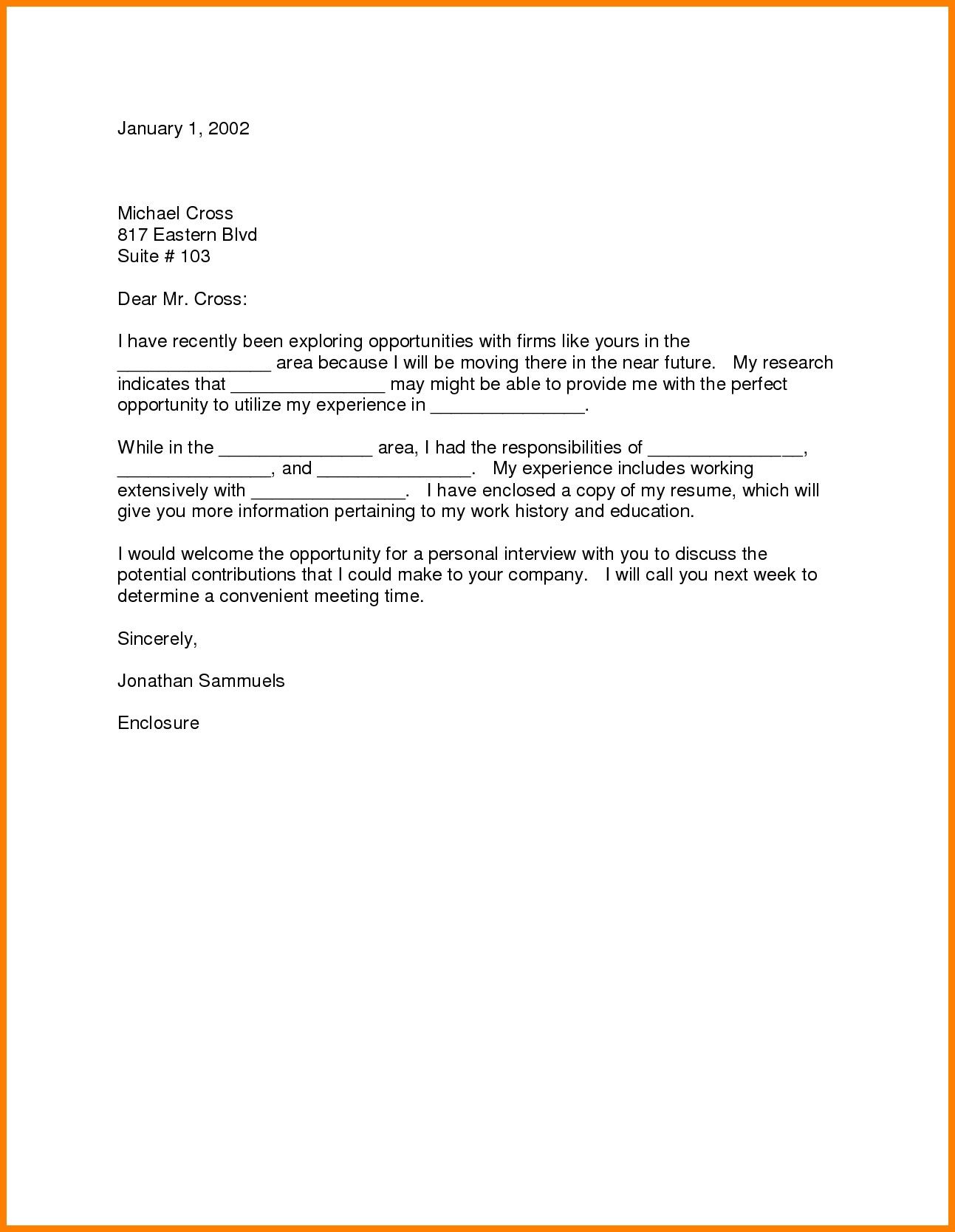 Cover Letter With Relocation Examples - Need Answers to the ...