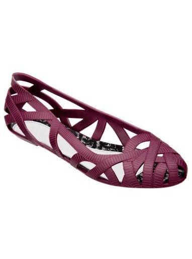 Jason Wu + Melissa Jean II Pump in Merlot   Collaborations with Vivienne Westwood, Jason Wu, Pedro Lourenco, Campana   Buy Melissa Plastic Shoes, Sandals, Wedges and Flip Flops at NONNON.co.uk
