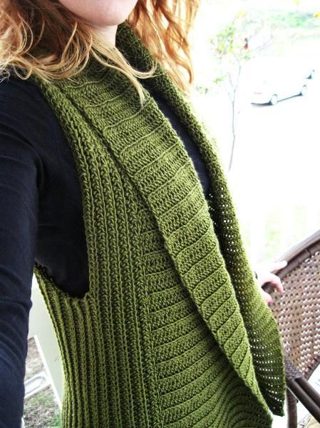 Vest Knitting Pattern Free Easy : Belinda vest free written pattern with photos easy