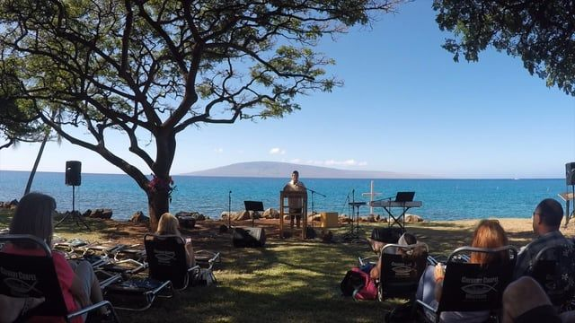 Calvary Chapel Westside Maui Church Service At The Beach In Lahaina Hawaii Wahikuli Wayside Park Sunday Morning Ocean Side