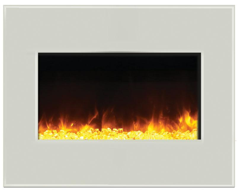 Amantii Zero Clearance 26 Inch Electric Fireplace In Black Or