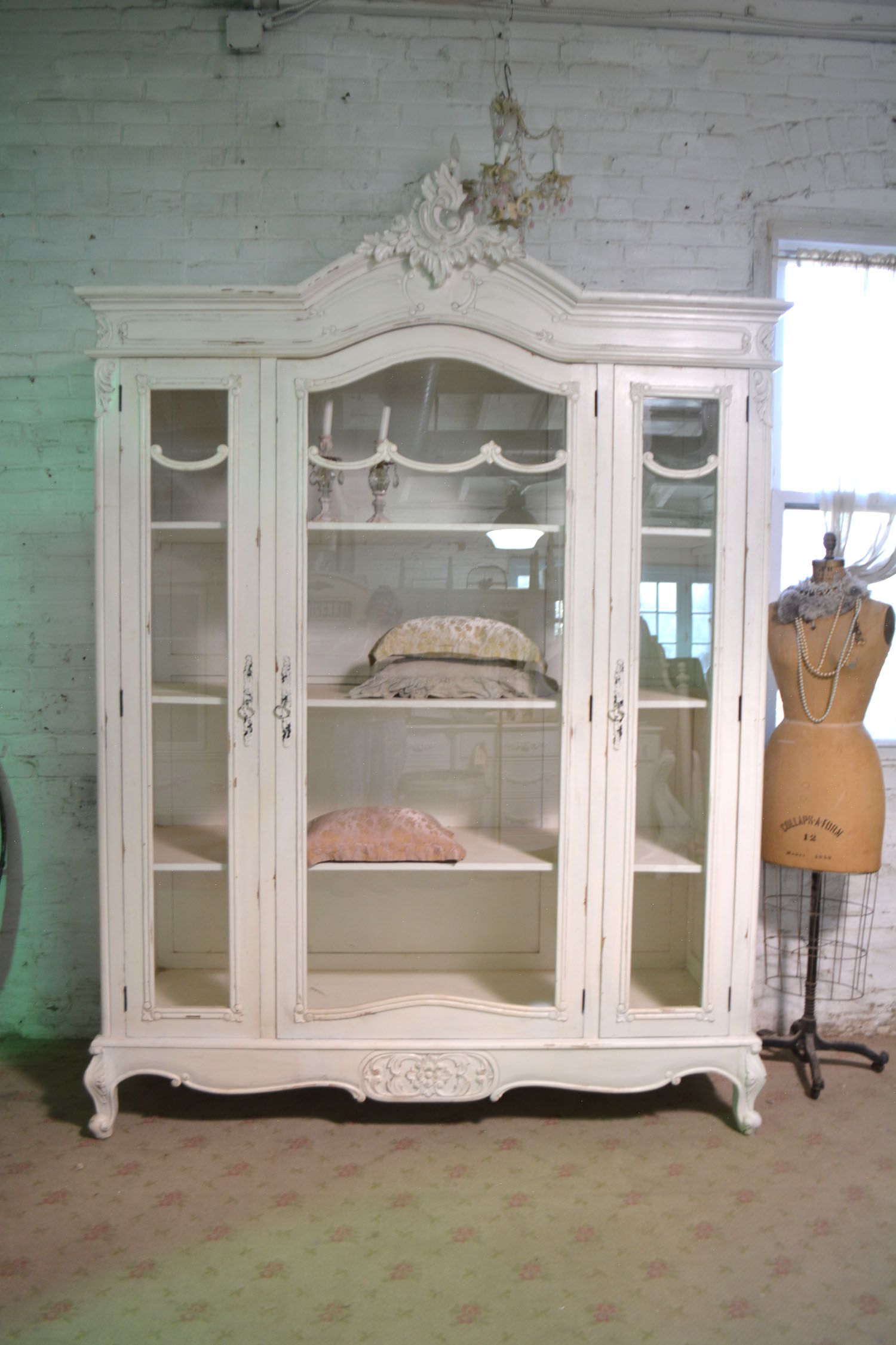 Painted Cottage Chic Shabby French Farmhouse China Linen Cabinet Cc1068 1 995 00 The Painted Cottag Shabby Chic Room Chic Home Decor Shabby Chic Shelves