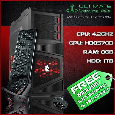 Ultimate Gaming PC Eagle ☆ 4.2GHz Fast Quad Core 1TB 8GB Cheap ...