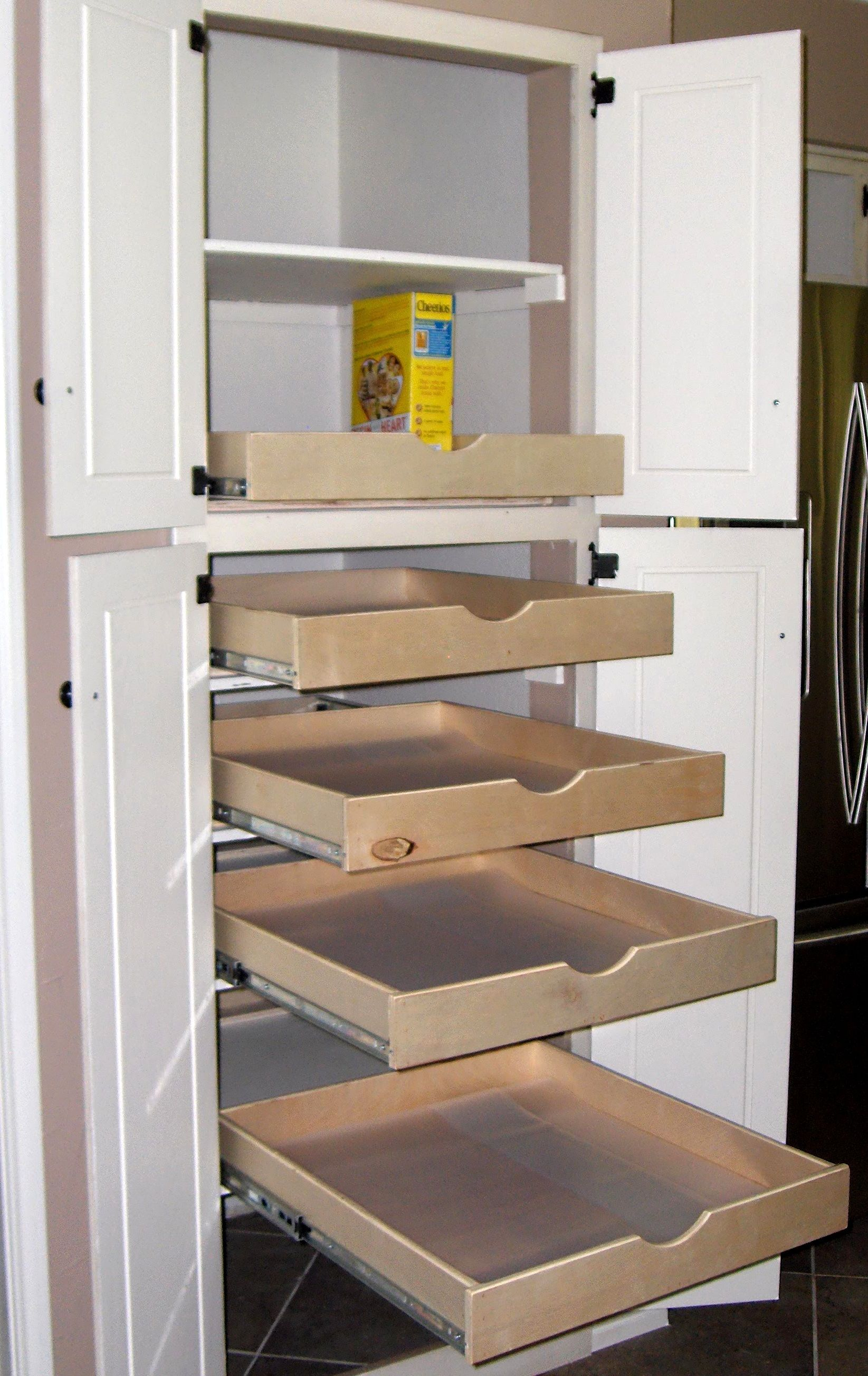 Pantry Cabinet With Pull Out Drawers