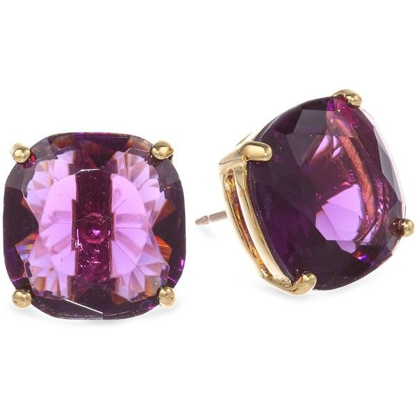 Kate Spade New York Small Square Amethyst Colored Stud Earrings 38 Liked On Polyvore Featuring Jewelry Earring Set