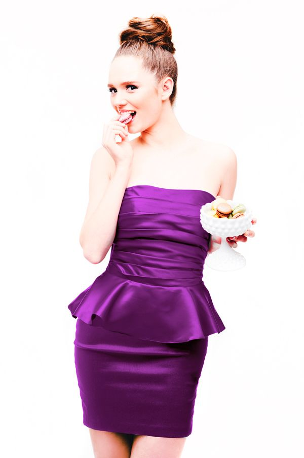 $179 Rachel Green dress in violet. #bridesmaids #bridesmaid dress ...