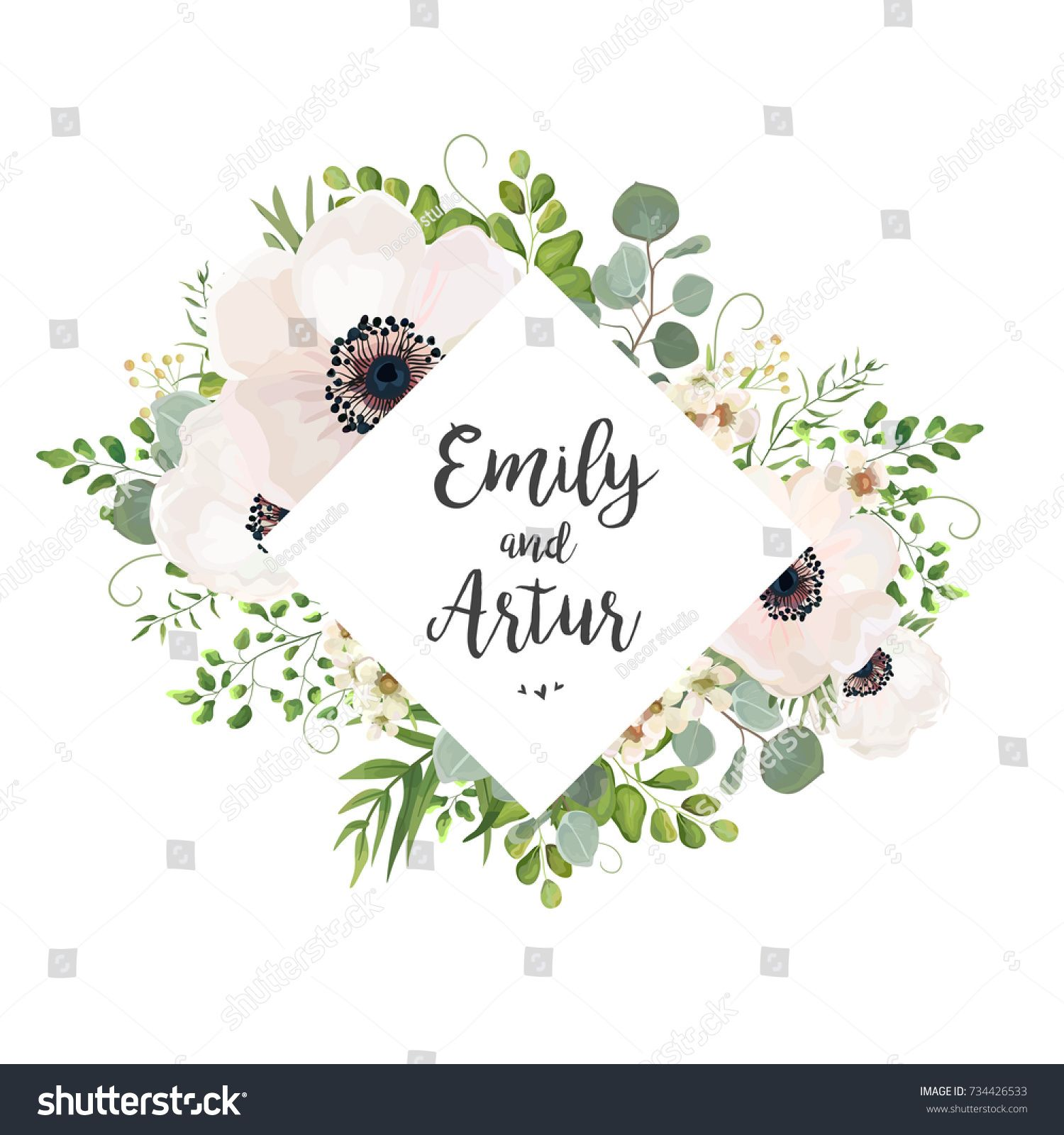 Vector floral wedding invite card design eucalyptus silver dollar vector floral wedding invite card design eucalyptus silver dollar branch greenery foliage natural leaves stopboris Image collections