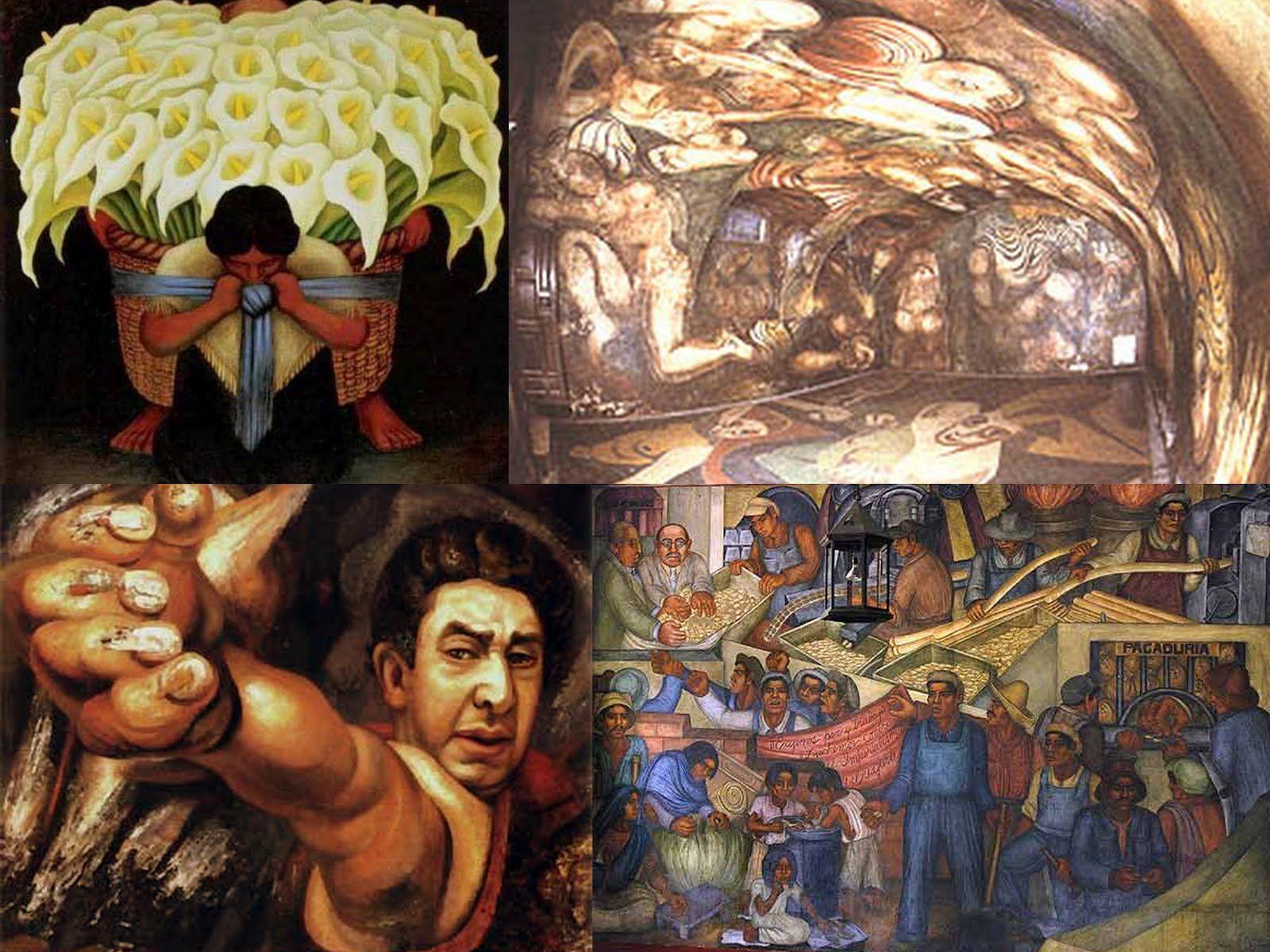 Collages Murales Mexicanos Con Imagenes Arte Mural Murales