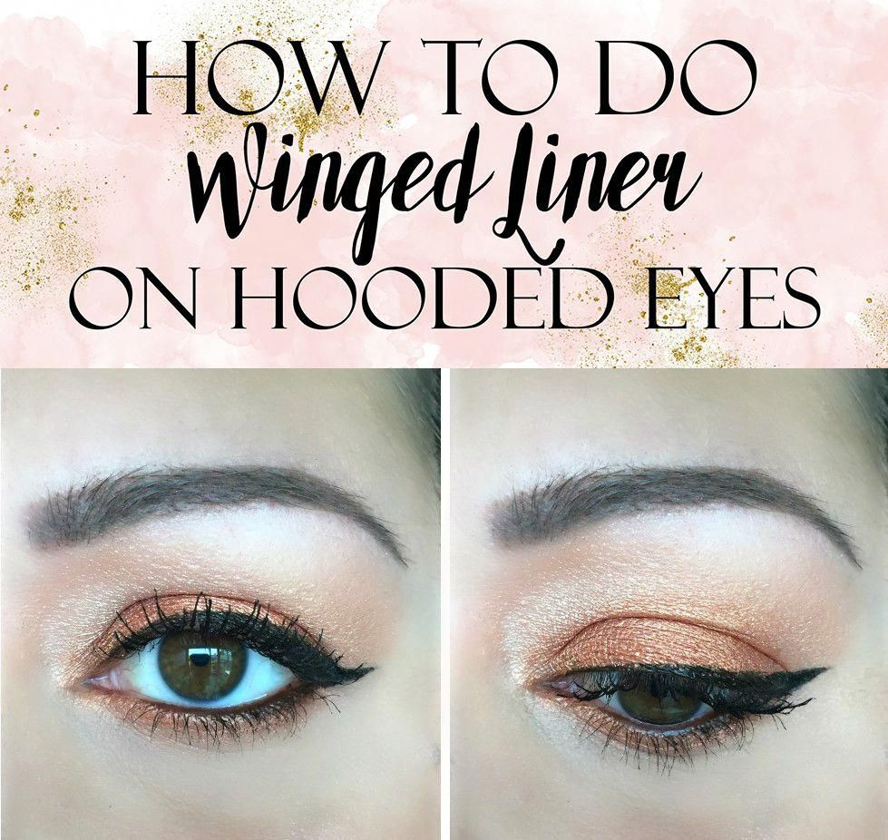 Easy Winged Eye Liner Tutorial For Hooded Eyes Hooded Eyes