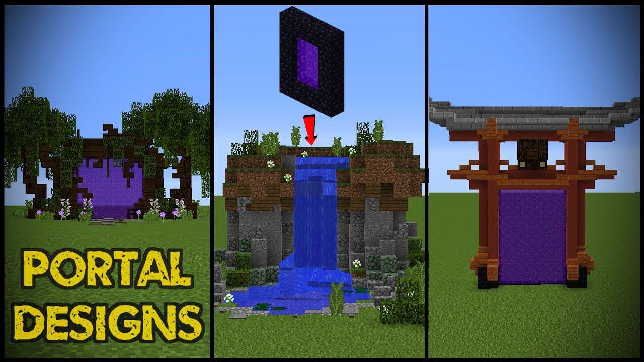 10 Minecraft Nether Portal Designs!  Minecraft designs, Minecraft