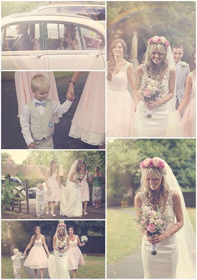 Vintage wedding very simple dress love