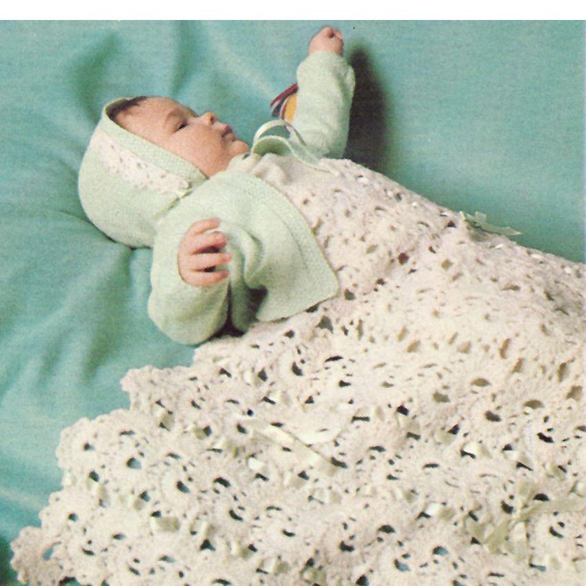 Queen Anne Lace Knit Crochet Baby Blanket Layette PDF Pattern ...