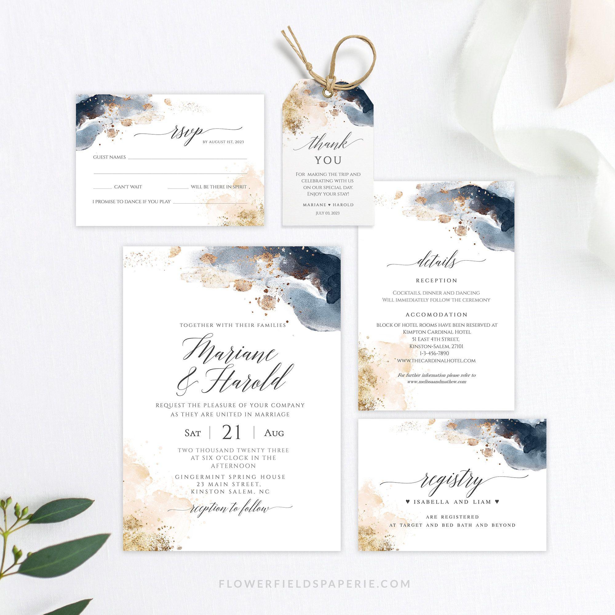 Wedding Invitation Printable Invite Template Invitation Etsy Printable Wedding Invitations Wedding Invitations Wedding Kit