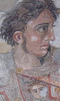 The Alexander Mosaic of Pompeii. In: Eberhardt Schwalm (ed.): Folio of History 1. Pictures for education. From the earlier high cultures to the 16th century. Stuttgart: Klett-Perthes 1993. p. 24f.  Alexander Mosaic from the House of Faun, Pompeii. Republican Roman. c. 100 B.C.E. Mosaic.