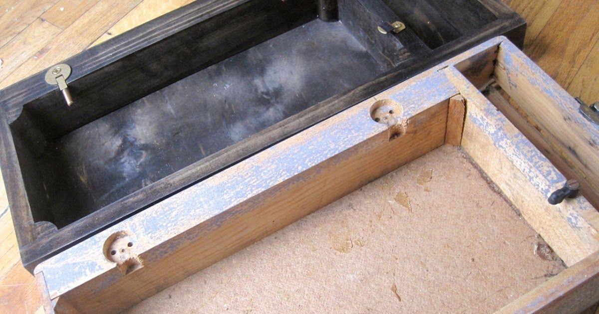 base caja de madera para maquina de coser. | Muebles