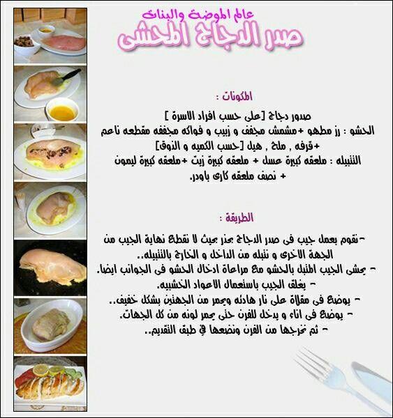 صدر الدجاج المحشي Food Fruit Pastry
