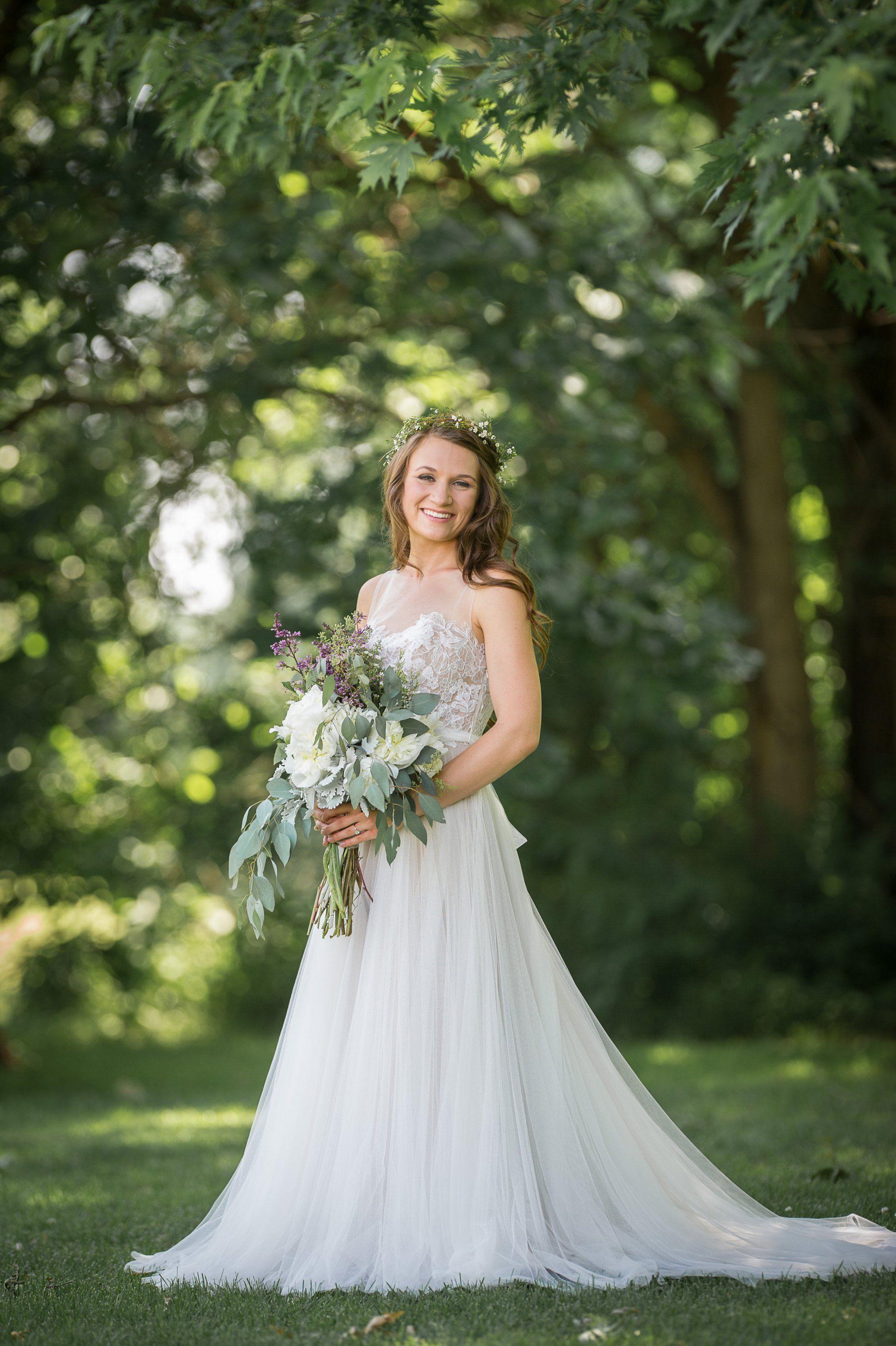 A Homegrown Minnesota Wedding: BHLDN Penelope Gown