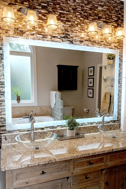 Side Lighted Led Bathroom Vanity Mirror 48 Bathroom Vanity