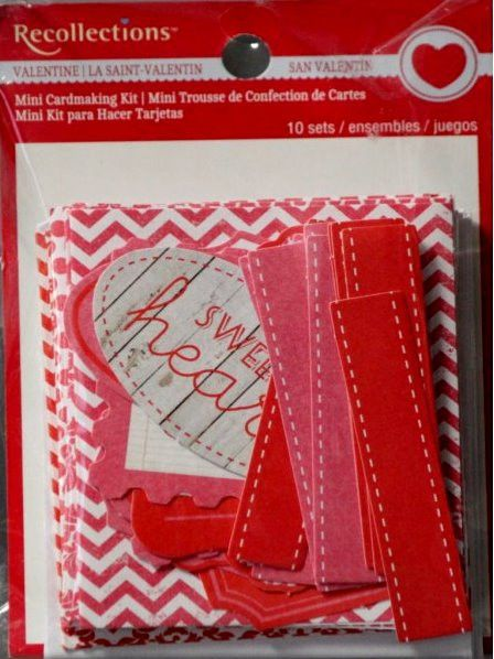 recollections mini valentine cardmaking kit  card making