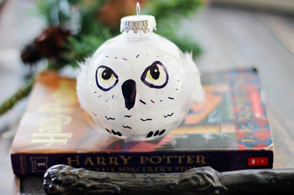 DIY Harry Potter Hedwig Christmas Ornament -   23 diy ornaments harry potter ideas