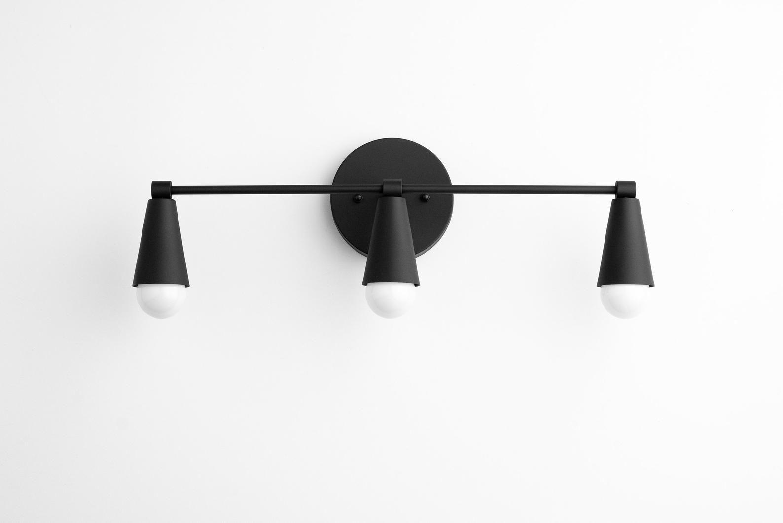 Three Bulb Vanity Light Bathroom Lighting Modern