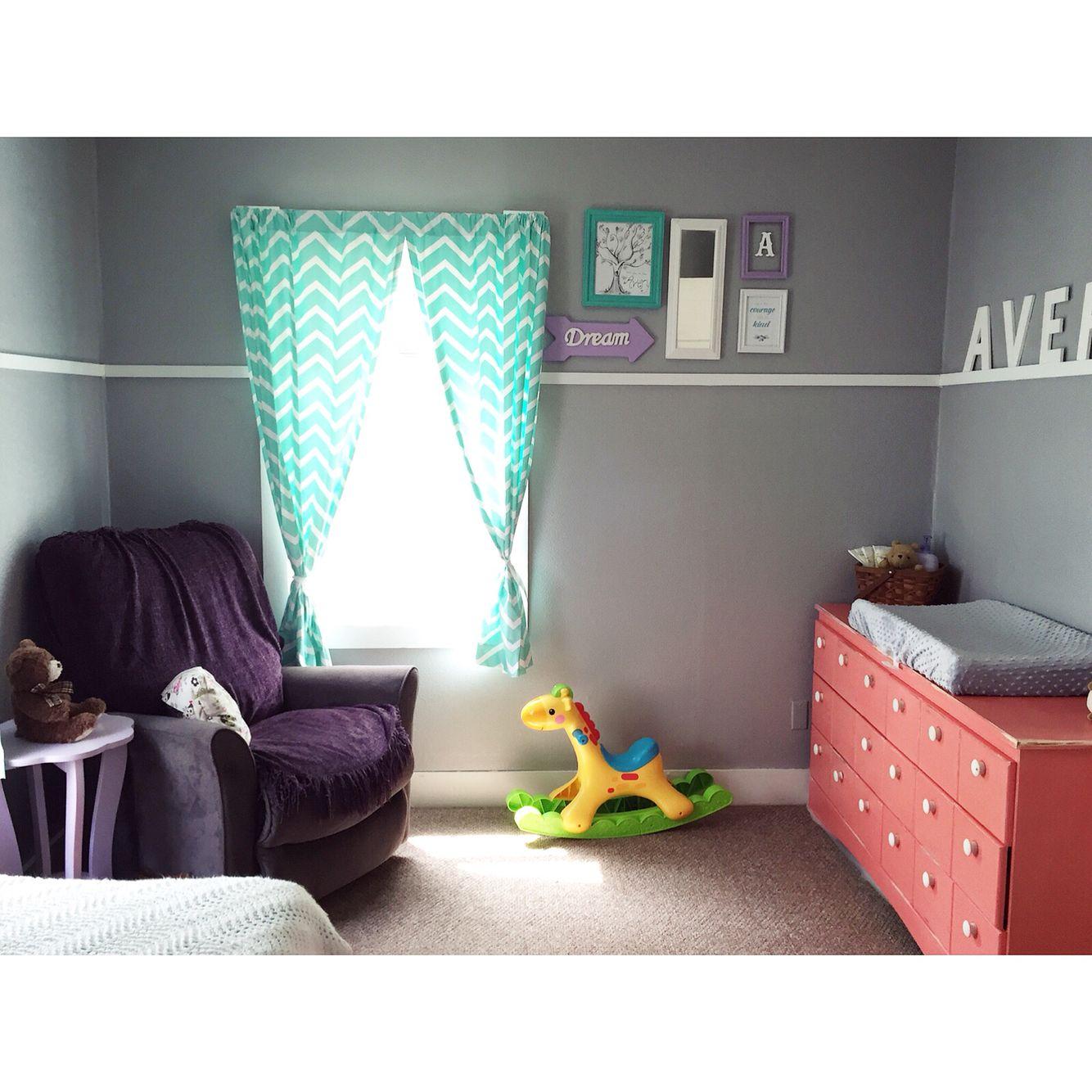 Teal, Purple, U0026 Coral Nursery/ Toddler Room