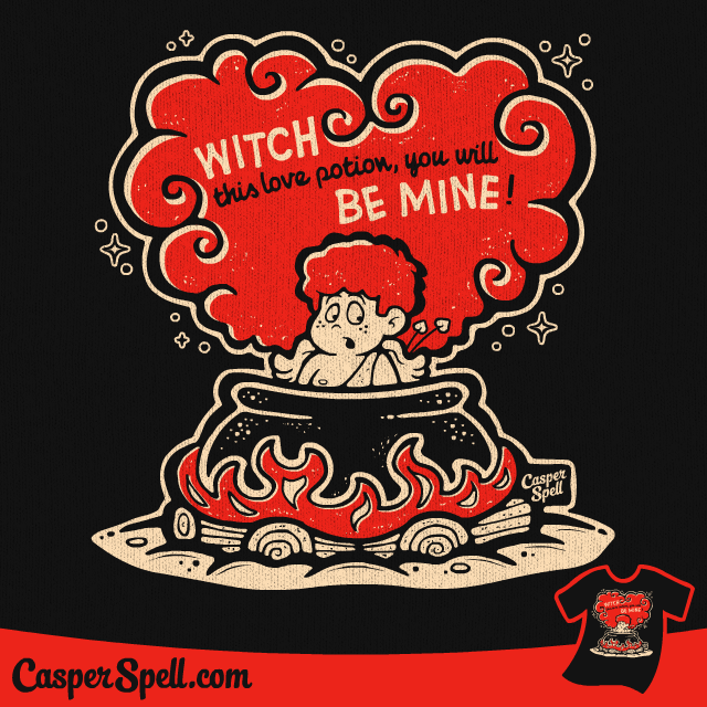 vintage valentine spooky halloween witch potion cartoon casper spell apparel shirt decor t shirt - Vintage Halloween Witches