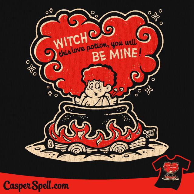 vintage valentine spooky halloween witch potion cartoon casper spell apparel shirt decor t shirt - Vintage Halloween Witches