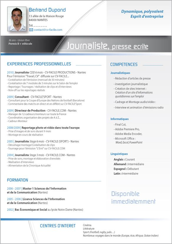 Resume Sample Modele De Cv Originaux Gratuit A Telecharger Modele Cv Exemple Cv Modele Cv Word