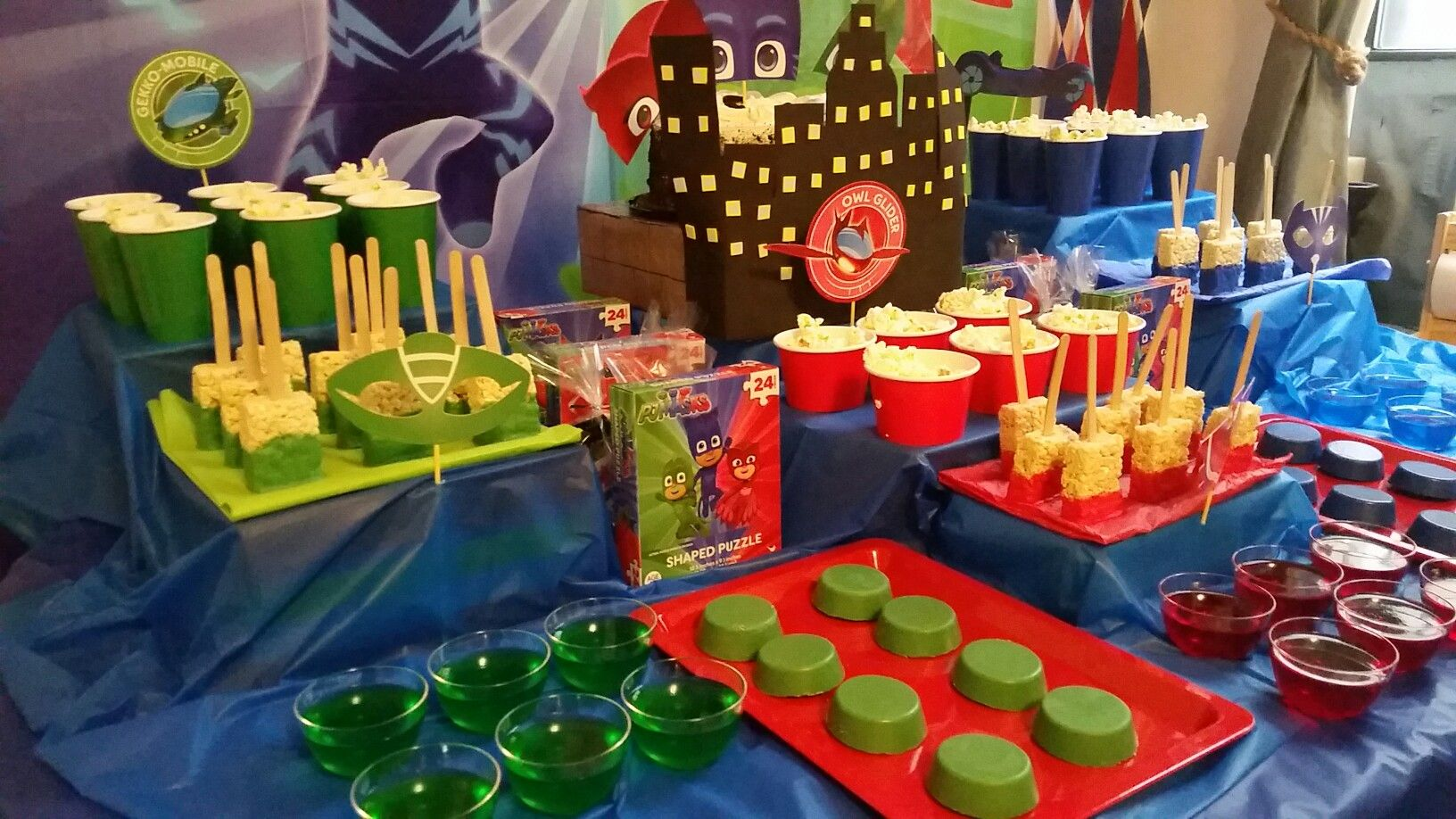 Pj Mask Party Decorations Pj Mask Birthday Party Party Decoration Ideas For My 3 Year Olds
