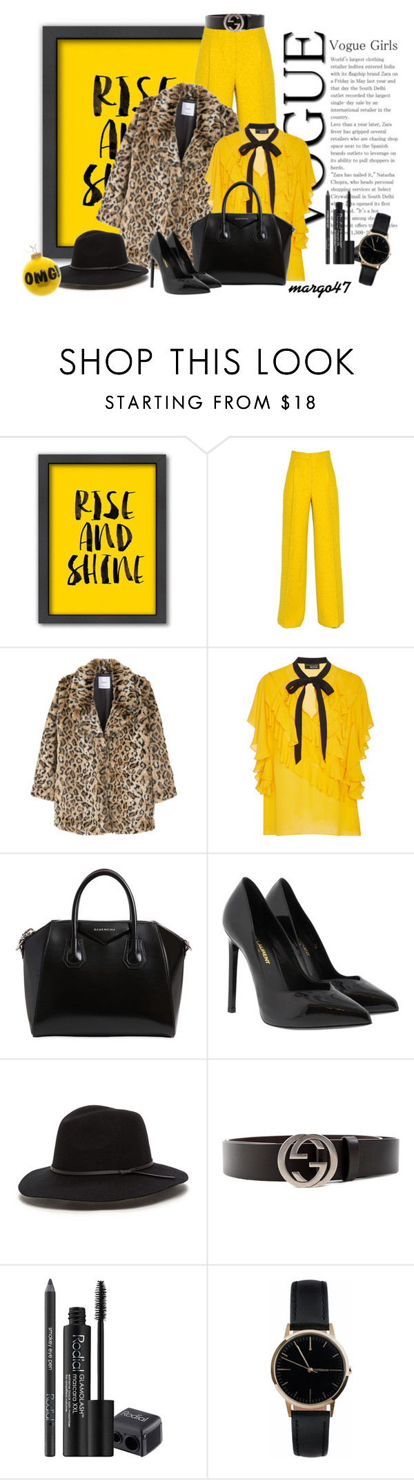 """zima"" by margo47 ❤ liked on Polyvore featuring Americanflat, MaxMara, MANGO, Sachin + Babi, Givenchy, Yves Saint Laurent, Gucci, Rodial and Freedom To Exist"