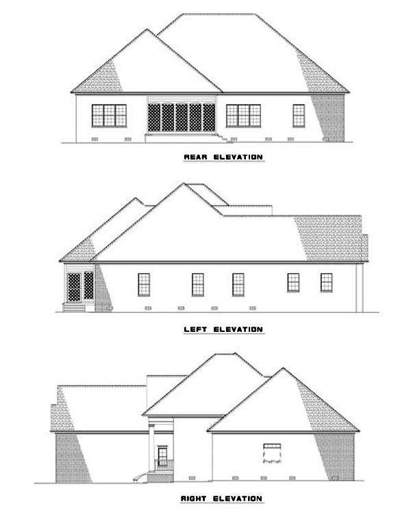 House Plan 62320 with 3 Bed , 2 Bath , 2 Car Garage
