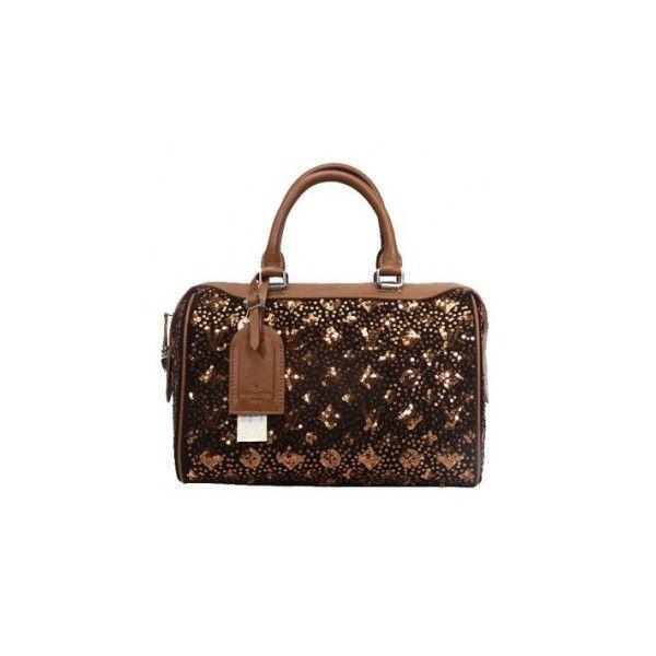 Monogram Sequin Louis Vuitton Speedy Handbag M40800 on hot sale ❤ liked on Polyvore