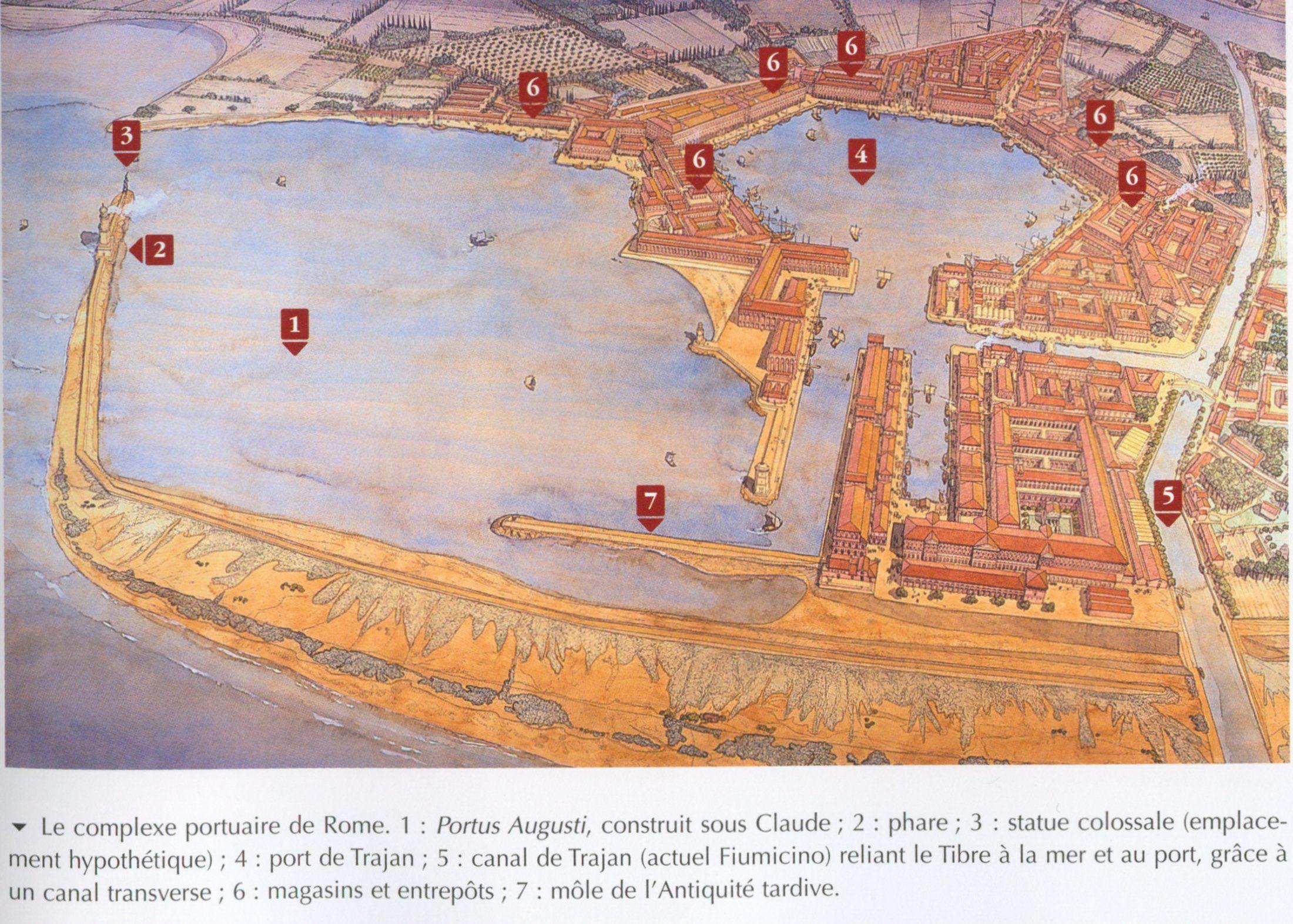 Portus with it's distinctive hexagonal harbor ~ Jean-Claude