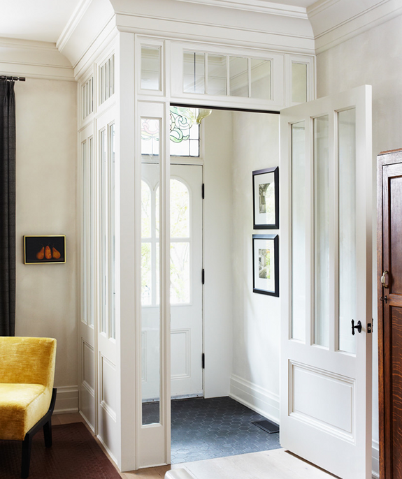 Interesting Idea--a Faux Mudroom? Could Open Up The