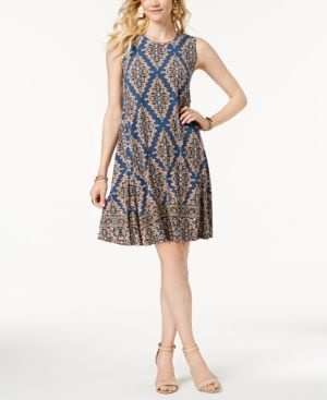 79bd7e8ad65 Style  amp  Co Petite Printed Flounce Dress