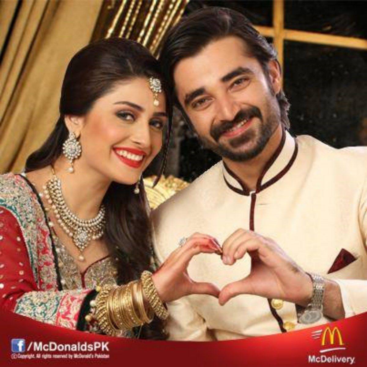 Hamza Ali Abbasi With Hot Ayesha Khan  Celebrities -8113